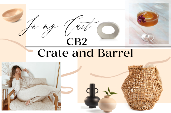 What's In My Cart: CB2 and Crate and Barrel